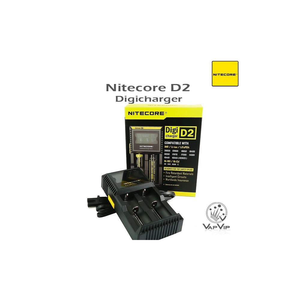 Nitecore digicharger d2 kit cargador de baterias for 2 box auto con kit di appartamenti