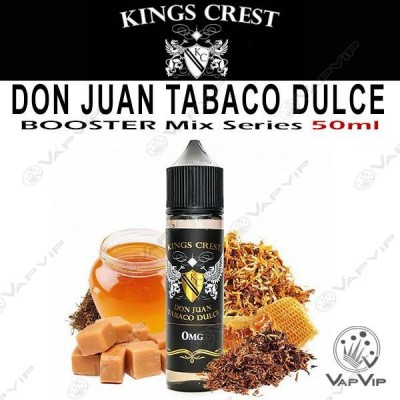DON JUAN TABACO DULCE 50ml (BOOSTER) - KINGS CREST eliquids
