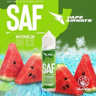 SAF - WATERMELON ON ICE E-liquido 50ml (BOOSTER) - Vape Airways