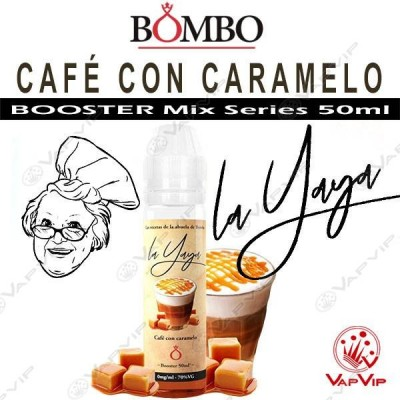 COFFEE WITH CARAMEL E-liquid 50ml (BOOSTER) - Bombo