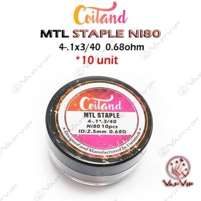 10 Premades Ni80 MTL Staple Coil 0,68 Ohm - Coiland
