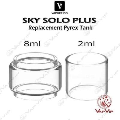 SKY SOLO PLUS 2ml / 8ml Pyrex replacement tank glass- Vaporesso