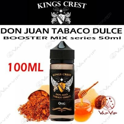 DON JUAN TABACO DULCE 100ml (BOOSTER) - KINGS CREST eliquids
