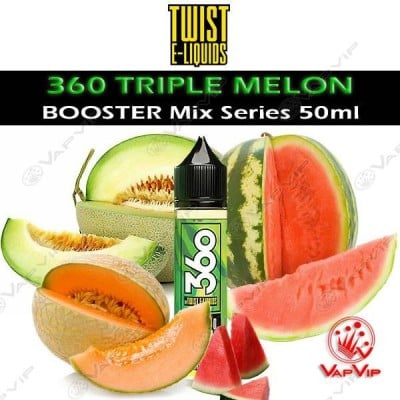 360 TRIPLE MELON E-liquid 50ml (BOOSTER) - Twist E-Liquids