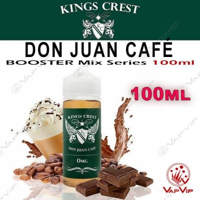 DON JUAN CAFE 100ml (BOOSTER) - KINGS CREST eliquids
