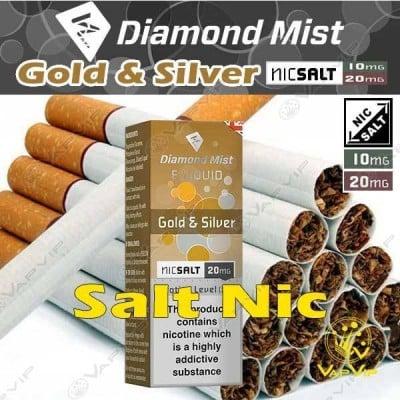 Nic Salt GOLD & SILVER Nicotine salts Eliquid 10ml - Diamond Mist