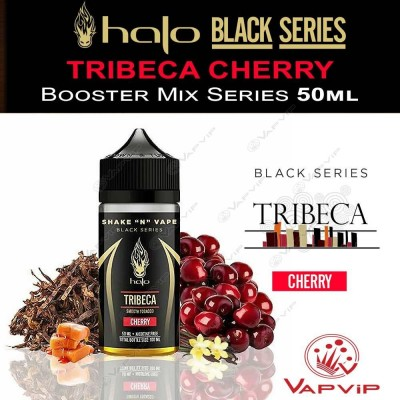TRIBECA CHERRY Black Series eliquid 50ml (BOOSTER) - Halo