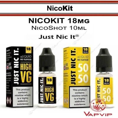 NicoKit: Just Nic It High VG 10ml 18mg/ml Booster
