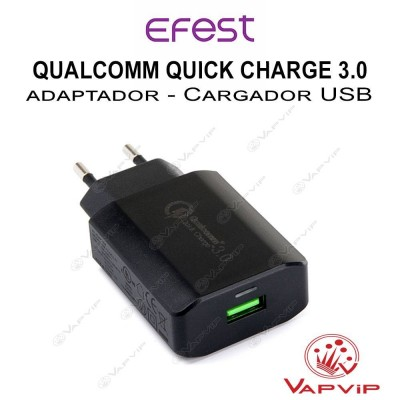 Compact USB Adapter Qualcomm Quick Charge 3.0 - Efest