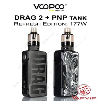 DRAG 2 177W Refresh Edition + PnP Tank Full Kit - Voopoo