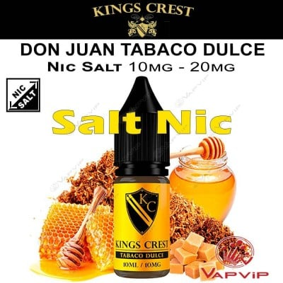 Salts DON JUAN TABACO DULCE Nicotine Salts - KINGS CREST