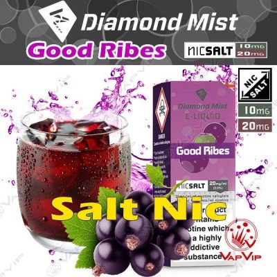 Nic Salt GOOD RIBES Nicotine salts Eliquid 10ml - Diamond Mist