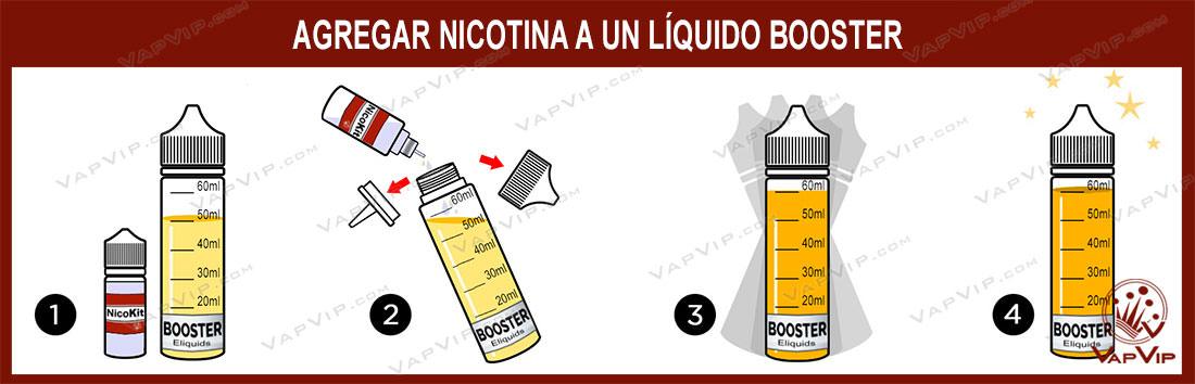 Agregar Nicotina a un booster