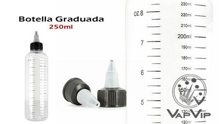Botella Twist Graduada para mezclar tus líquidos de vapeo 250ml
