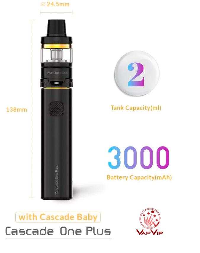 CASCADE ONE PLUS KIT - 3000 mAh + 2 ml by Vaporesso en España