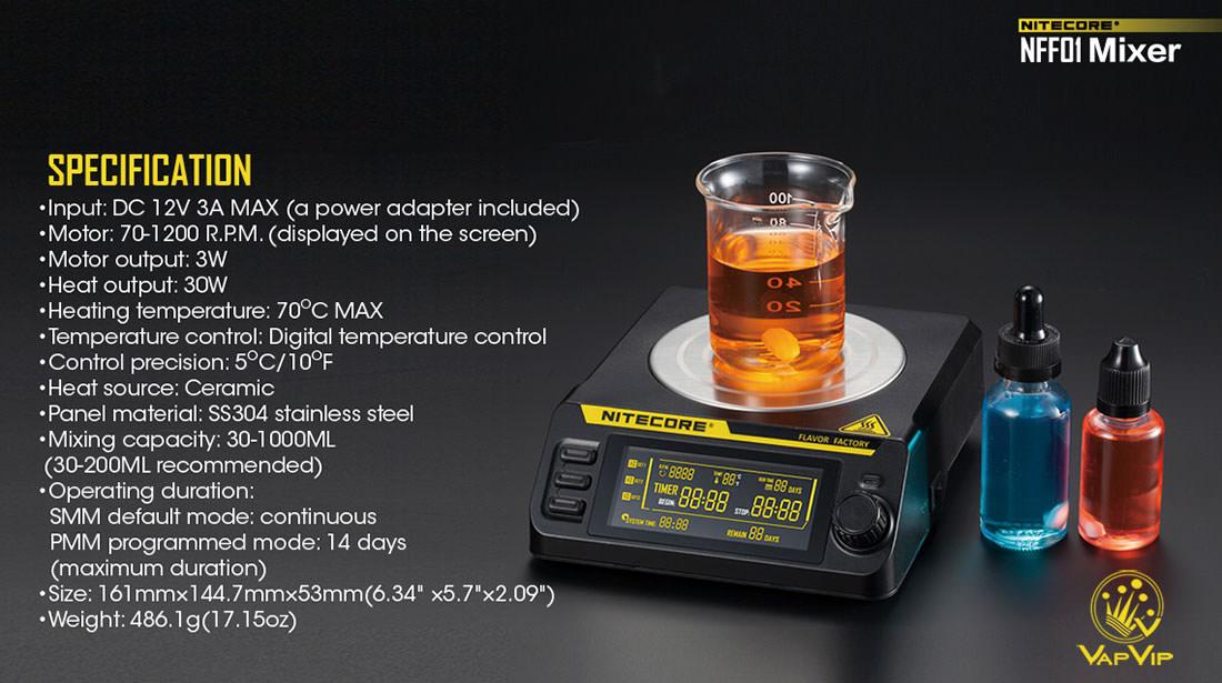 Nitecore NFF01: Agitador magnético de elíquidos en España
