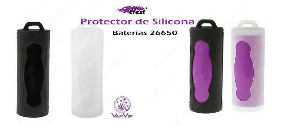 Protector de Silicona para Bateria 26650 en España