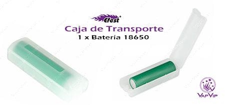 Caja de transporte para 1 batería 18650 comprar en España