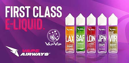 e-liquids Vape Airways sales online in Spain & all Europe