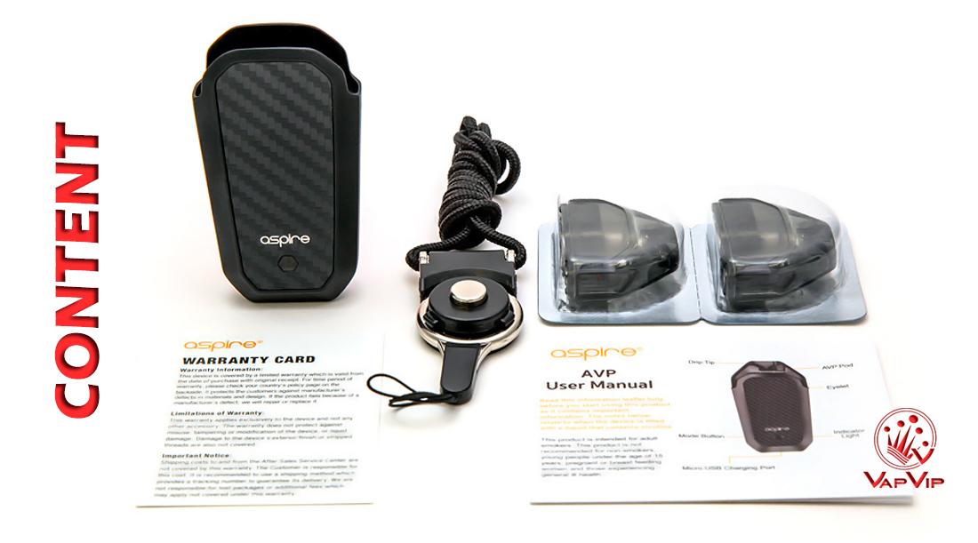 Aspire AVP Pod buy in Vapvip Europe, Spain