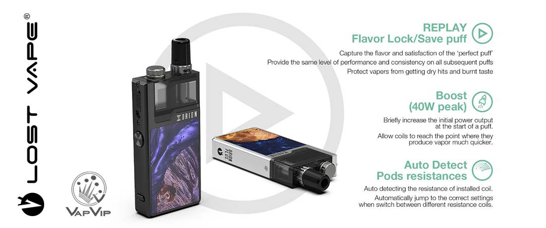LOST VAPE ORION PLUS Pod DNA- Lost Vape España