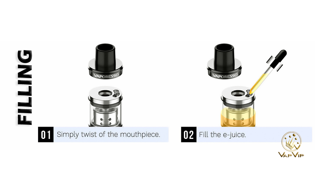 SKRR-S 2ml Mini Atomizer by Vaporesso to buy cheap in Europe and Spain