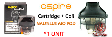 Replacement Pod NAUTILUS AIO by Aspire Vapers comprar en España