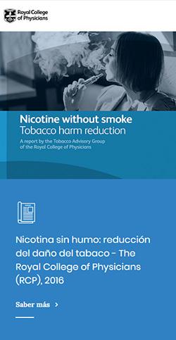 Nicotina sin humo: reducción del daño del tabaco - The Royal College of Physicians