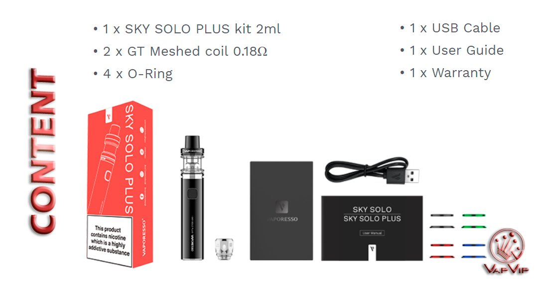 SKY Solo PLUS Kit Vaper by Vaporesso in Spain