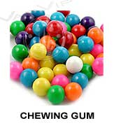 All flavors of chewing gum to make e-liquids for vaping.