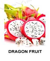 All flavors of fragon fruit to make e-liquids for vaping.