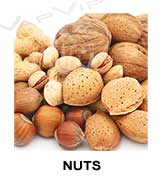 All flavors of nuts to make e-liquids for vaping.