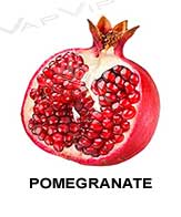 All flavors of pomegranate to make e-liquids for vaping.