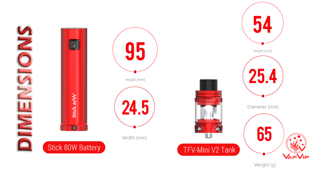 STICK 80W Kit by Smok to buy in Vapvip Europe, Spain