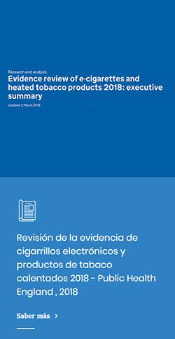 Revisión de la evidencia de cigarrillos electrónicos