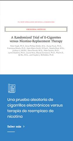 Una prueba aleatoria de cigarrillos electrónicos versus terapia de reemplazo de nicotina