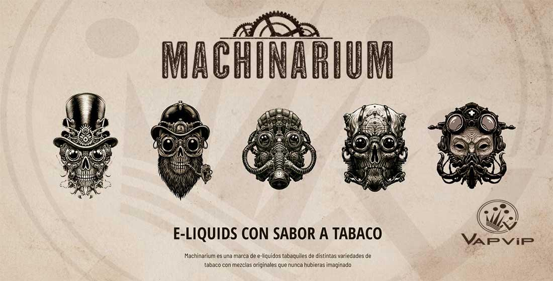 e-líquidos tabaquiles Machinarium para cigarrillos electrónicos fabricados en España