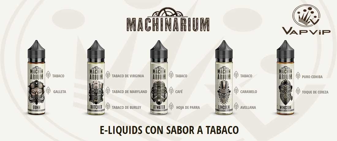 e-líquidos Machinarium de tabaco para vapeo fabricados en España