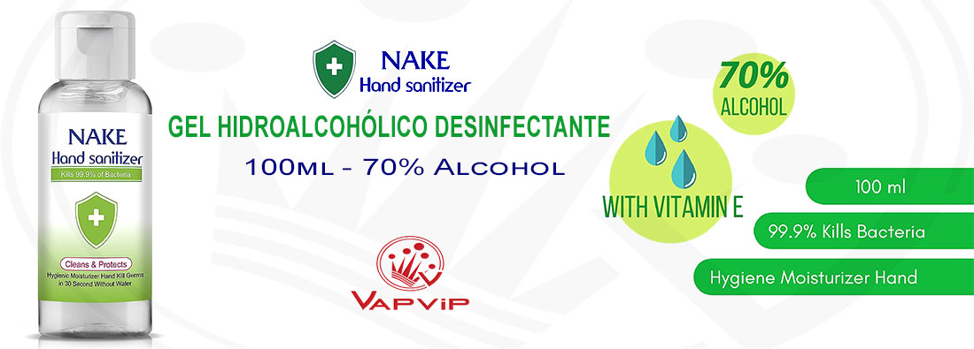 Nake: Instant Hand Sanitizer with 70% Alcohol in Sapin