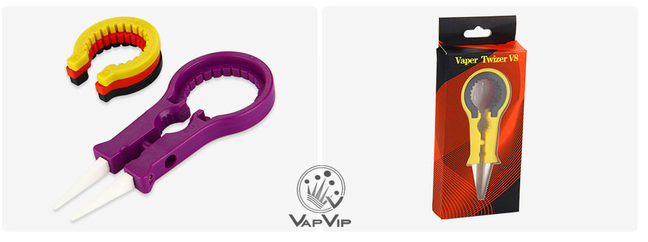 Ceramic Tweezer V8: Pinzas multifunción de punta cerámica para vapeo
