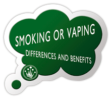 What are the differences between smoking and vaping?