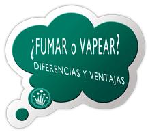Cuales son las diferencias entre fumar y vapear.